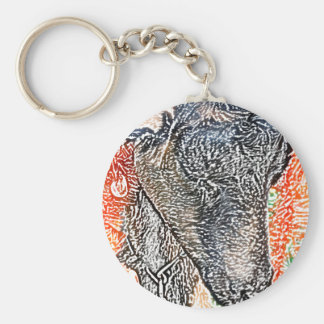 cabra con bosquejo del extracto de la guirnalda llaveros