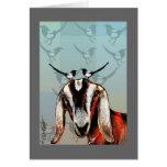 Cabra con las urracas: amistad, bella arte felicitacion