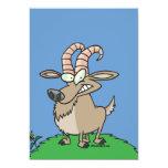 cabra de billy del dibujo animado anuncio personalizado