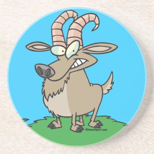 cabra de billy del dibujo animado posavasos para bebidas