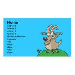cabra de billy del dibujo animado tarjeta de visita