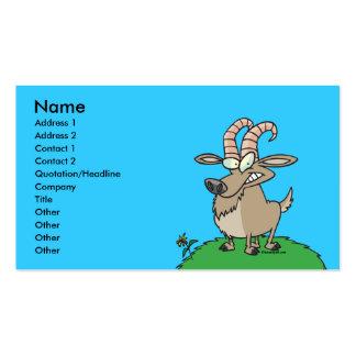 cabra de billy del dibujo animado tarjetas de visita