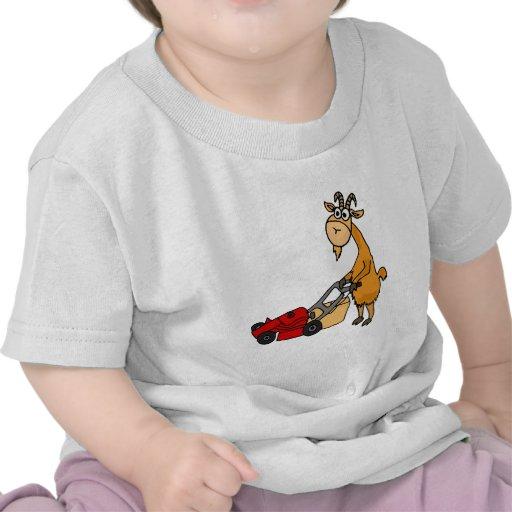 Cabra de Billy divertida que empuja el dibujo anim Camiseta