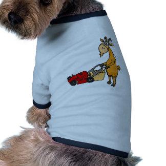 Cabra de Billy divertida que empuja el dibujo anim Camiseta Con Mangas Para Perro