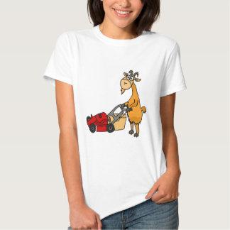 Cabra de Billy divertida que empuja el dibujo Remera