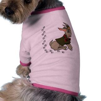 Cabra de Billy linda con Bowtie Camisetas De Perrito