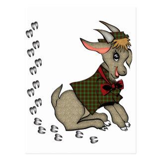 Cabra de Billy linda con Bowtie Tarjeta Postal