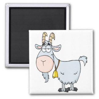 cabra de billy tonta del dibujo animado imán cuadrado