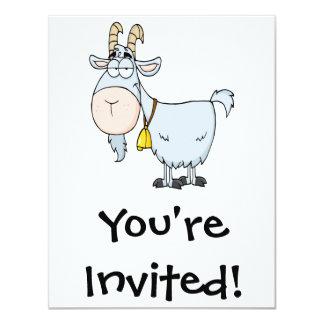 """cabra de billy tonta del dibujo animado invitación 4.25"""" x 5.5"""""""