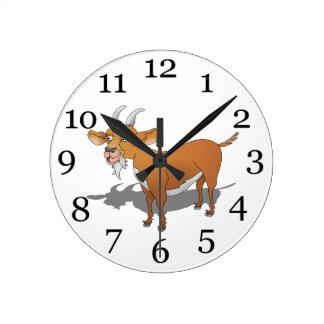 Cabra de Brown Billy Reloj Redondo Mediano