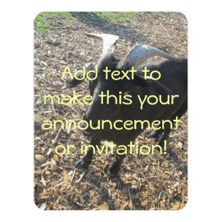 """Cabra de cuernos invitación 4.25"""" x 5.5"""""""