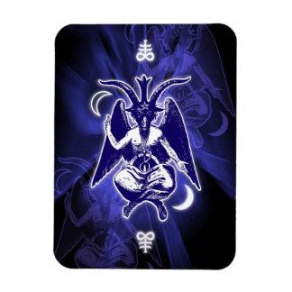 Cabra de Mendes Baphomet y cruces satánicas Rectangle Magnet