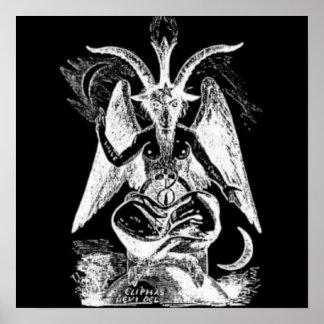 Cabra de Mendes blanco y negro Póster