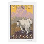 Cabra de montaña - el Yukón, Alaska Tarjeta