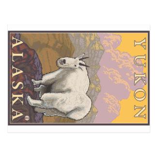 Cabra de montaña - el Yukón Alaska Postales