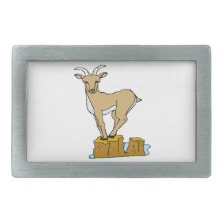 Cabra de montaña hebillas de cinturón rectangulares