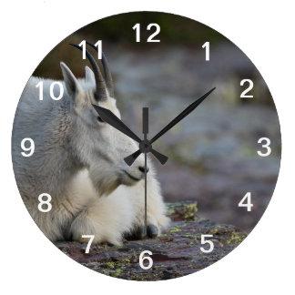 Cabra de montaña reloj redondo grande