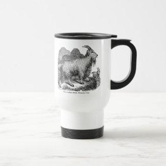 Cabra de montaña rocosa americana de las cabras de taza de viaje de acero inoxidable