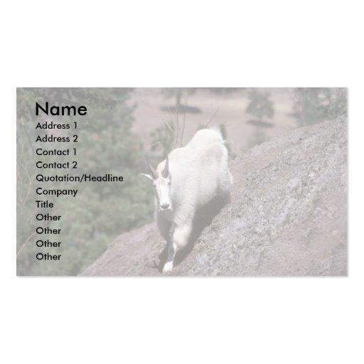 Cabra de montaña rocosa (rastro de siguiente mascu tarjeta personal