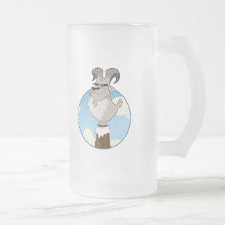 cabra de montaña taza de cristal
