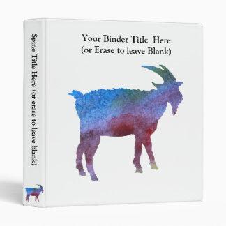 """Cabra del arco iris con el texto adaptable carpeta 1"""""""