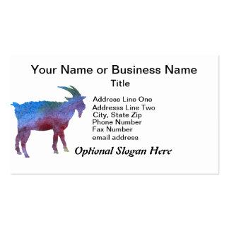 Cabra del arco iris con el texto adaptable tarjetas de visita