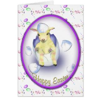 Cabra del bebé de Pascua Felicitaciones