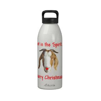 Cabra del Boer de las Felices Navidad Botella De Beber