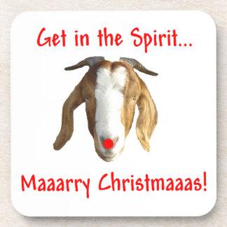 Cabra del Boer de las Felices Navidad Posavasos