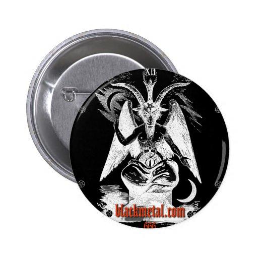 Cabra del botón redondo negro de Mendes Pin Redondo De 2 Pulgadas