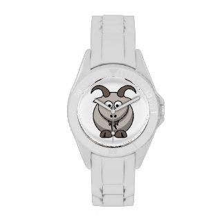 Cabra del dibujo animado reloj