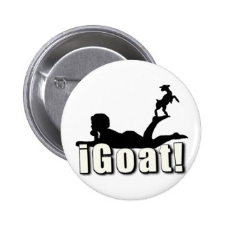 CABRA    del iGOAT I Pin Redondo De 2 Pulgadas