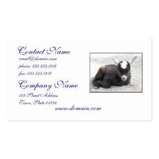 Cabra del niño tarjeta de visita
