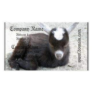 Cabra del niño tarjetas de visita