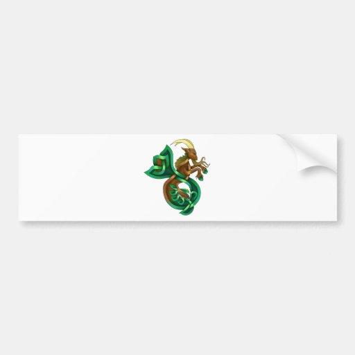 Cabra del océano etiqueta de parachoque