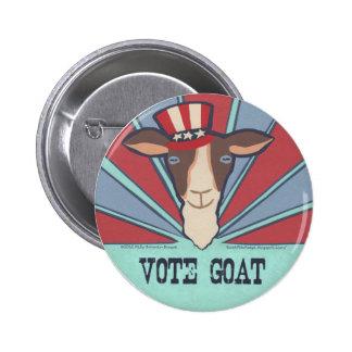 ¡Cabra del voto! Botón de la campaña Pin Redondo De 2 Pulgadas