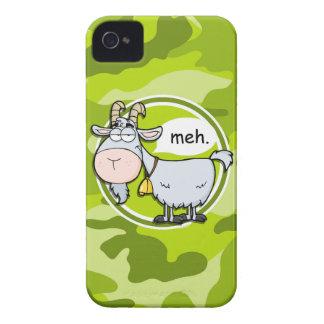 Cabra divertida; camo verde claro, camuflaje iPhone 4 cárcasa