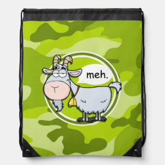 Cabra divertida; camo verde claro, camuflaje mochilas