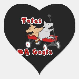 Cabra divertida Meme de MaGoats de los totes Pegatina En Forma De Corazón
