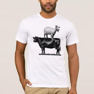 Cabra en la camiseta de la vaca