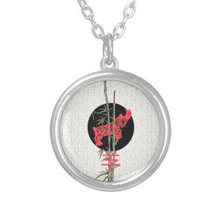 Cabra/espolón (zodiaco chino) colgante redondo