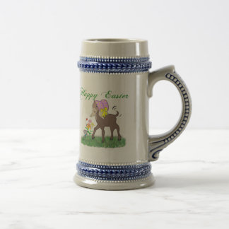 Cabra feliz de Pascua Tazas De Café
