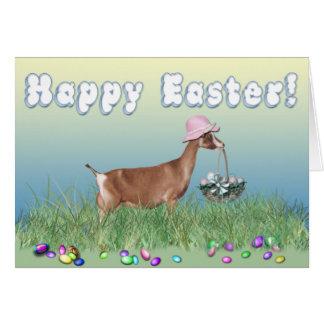 Cabra feliz de Pascua Toggenburg Tarjeton