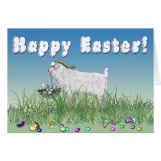 Cabra feliz del dólar del angora de Pascua Tarjeta De Felicitación