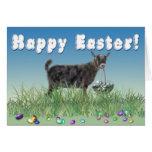 Cabra feliz del pigmeo 2 de Pascua Felicitaciones