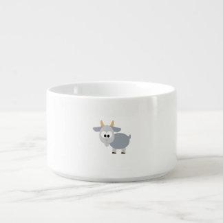 Cabra gris adorable tazón