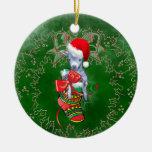 Cabra linda del bebé en el ornamento del navidad ornamento para reyes magos