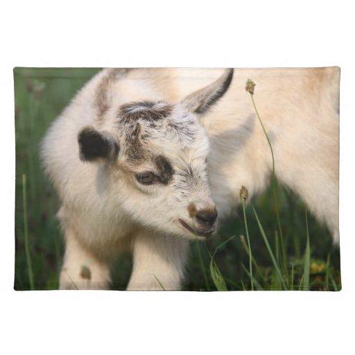 Cabra linda del bebé mantel individual