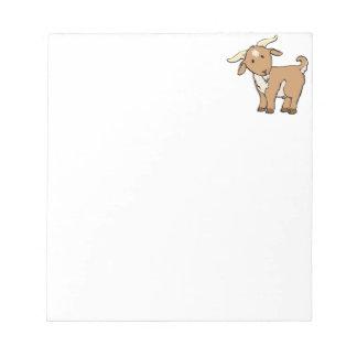 Cabra linda del dibujo animado libretas para notas