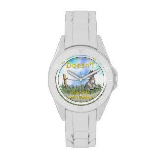 Cabra linda divertida reloj de mano